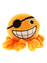 Orange Octopus Plush & Squeaky Dog Toy - Cuddly and colourful textures, with an added squeak to entertain your pet! The rest of him is cuddly and colourful with an added squeak to entertain your pet! This toy will provide hours of fun for your pup as he squeaks with every bite. These soft, cute and cuddly toys are designed for your dog to...
