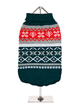 Green Fair Isle Vintage Sweater - We're constantly inspired by heritage designs not only from Britain but also from Scandinavia, especially when those designs are in style as they are this season. A high turtle neck and elasticated sleeves make this sweater extra cosy and the vibrant pattern will brighten up even the greyest of days...