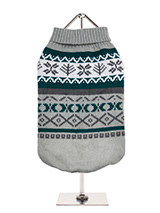 Grey Fair Isle Vintage Sweater - We're constantly inspired by heritage designs not only from Britain but also from Scandinavia, especially when those designs are in style as they are this season. A high turtle neck and elasticated sleeves make this sweater extra cosy and the vibrant pattern will brighten up even the greyest of days...