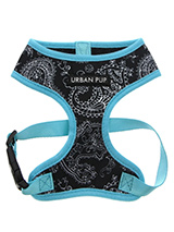 Black & Blue Paisley Harness - The Paisley pattern has its origins in Ancient Babylon but is now synonymous with the town of Paisley in Scotland. This harness is lightweight and incredibly strong. Designed by Urban Pup to provide the ultimate in comfort and safety. It features a breathable material for maximum air circulation tha...