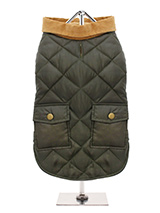 Forest Green Quilted Town & Country Coat - Urban Pup's Quilted Town and Country Coat has been crafted for lightweight warmth and unparalleled heritage style. It just oozes class and is perfect for either the city or country. The beautiful soft corduroy collar has an enamel Urban Pup label pin as standard for that on-trend, quality feel. It h...